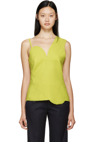 Rejina Pyo - Yellow Asymmetric Panelled Katy Top