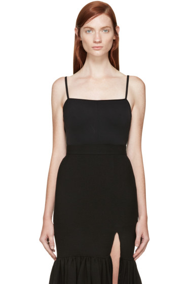 Esteban Cortazar - Black Sleeveless Bodysuit