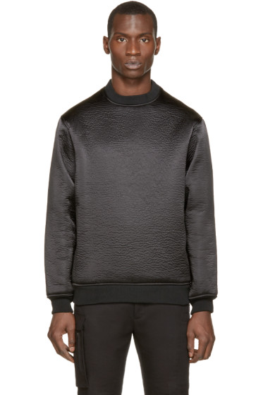 Wanda Nylon - Black Textured Alan Sweater