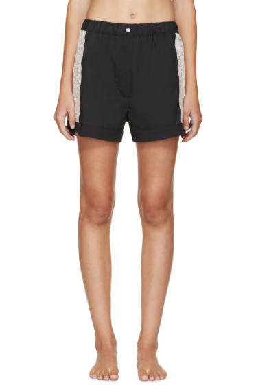 Raphaëlla Riboud - Black Lace-Inset Museletta Shorts