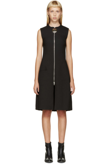 Thomas Tait - Black Angled Pleat Dress