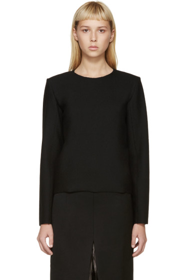 Thomas Tait - Black Wool Crepe Blouse