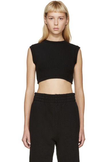 YEEZY - Black Cropped Tank Top