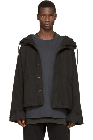 YEEZY - Black Hooded Jacket
