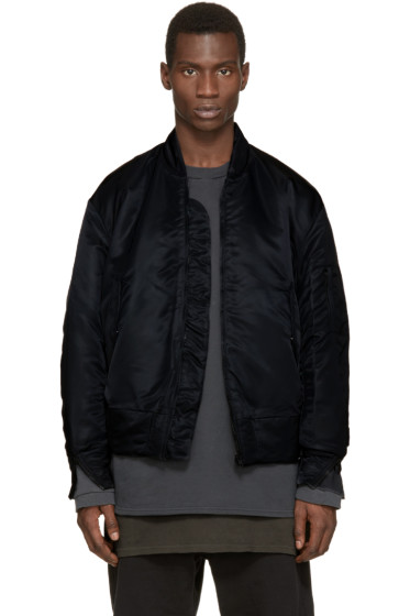 YEEZY - Black Nylon Bomber Jacket