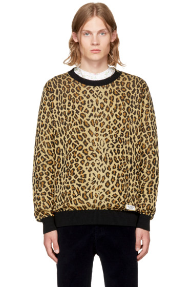 - Brown Leopard Sweater