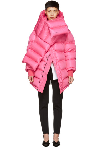 Balenciaga - Pink Outerspace Puffer Jacket