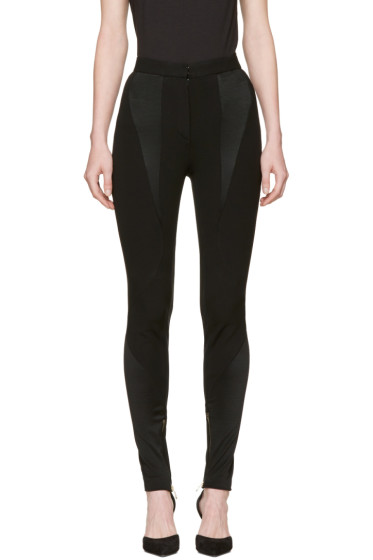 Versace - Black Panelled Stretch Leggings