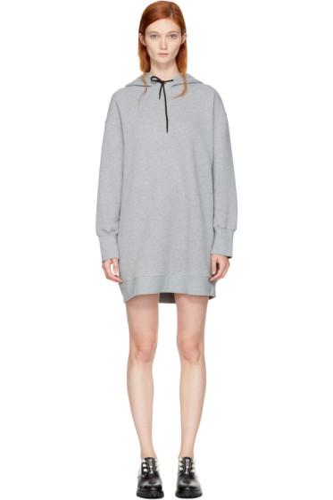 MSGM - Grey Oversized Hoodie Dress
