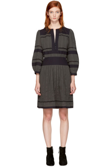 Isabel Marant Etoile - Grey & Black Ramsey Dress