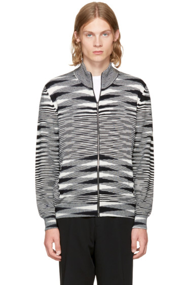Missoni - Black & White Zip-Up Sweater