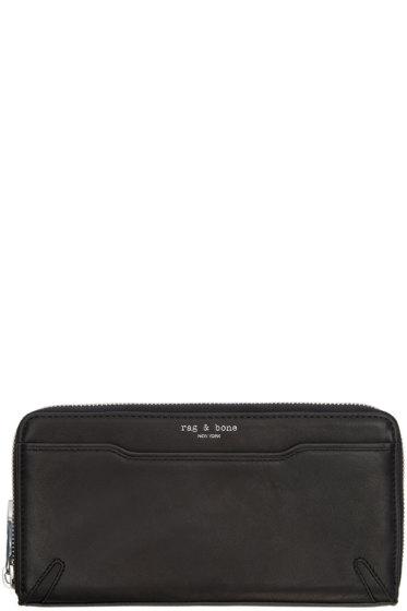 Rag & Bone - Black Leather Crosby Continental Wallet