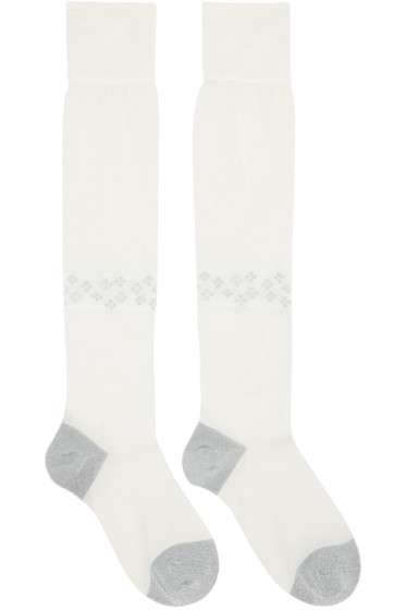 Maison Margiela - Ivory Silk Knee-High Socks