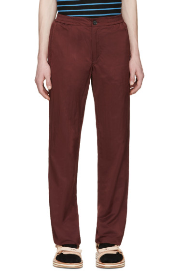 Opening Ceremony - Red Elasticized Waistband Trousers