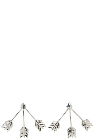 Pamela Love - Silver Triple Arrow Earrings