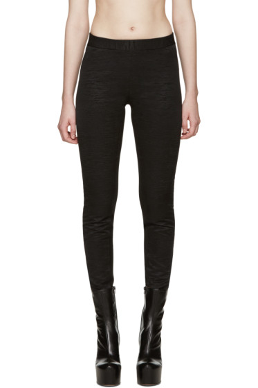 Gareth Pugh - Black Textured Leggings