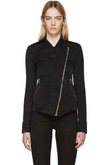 Gareth Pugh - Black Textured Cotton Zip Jacket