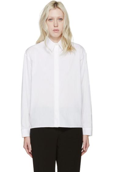 Dion Lee - White Poplin Quarter Shirt