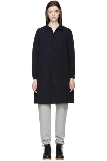 Visvim - Navy Linen Impressionist Coat