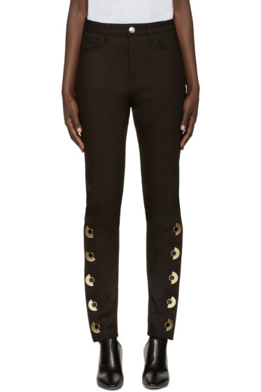 Anthony Vaccarello - Black Skinny AV Jeans