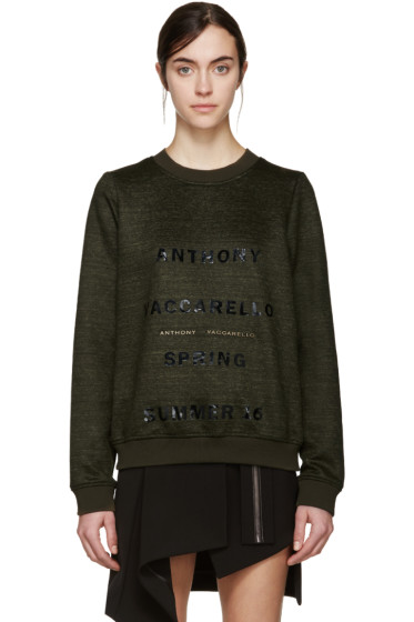 Anthony Vaccarello - Green Logo Pullover