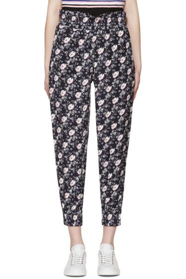 Mother of Pearl - Navy Silk Rita Lounge Pants
