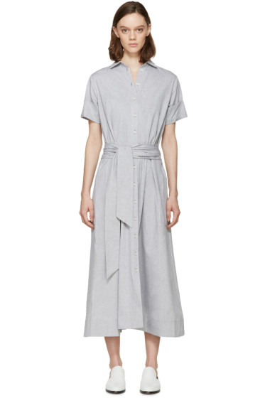 Lisa Marie Fernandez - Grey Chambray Shirt Dress