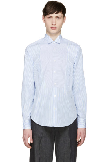 Loewe - Blue & White Striped Shirt