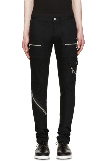 99% IS - Black Zip Jeans