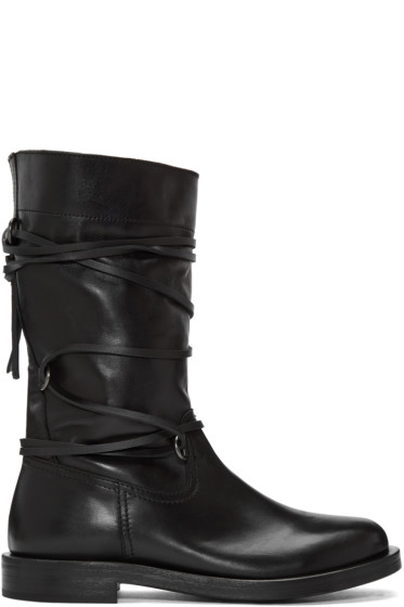 Diesel Black Gold - Black Lace Around Boots