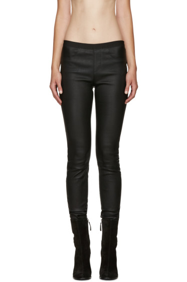 Helmut Lang - Black Skinny Leather Pants