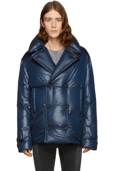 Maison Margiela - Navy Down Pea Coat