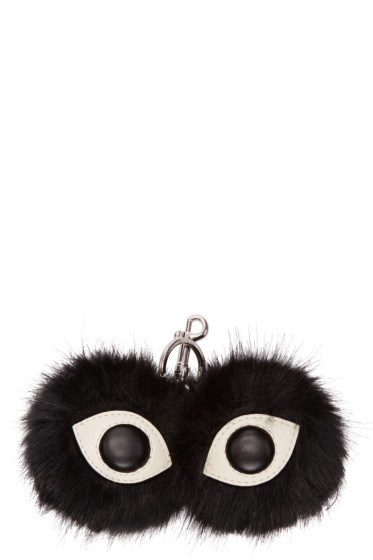 Stella McCartney - Black Faux-Fur Eyes Keychain
