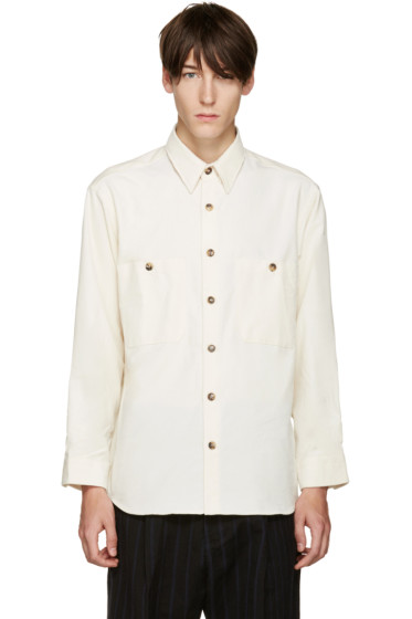 Umit Benan - Off-White Two-Pocket Shirt