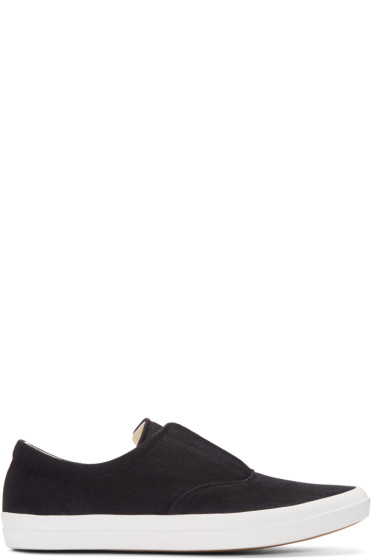 Lemaire - Black Denim Slip-On Sneakers