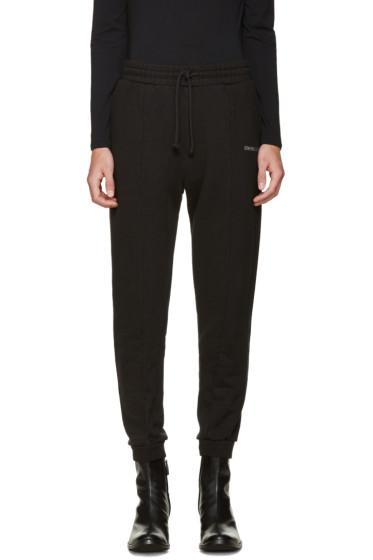 Vetements - Black Embroidered Logo Lounge Pants