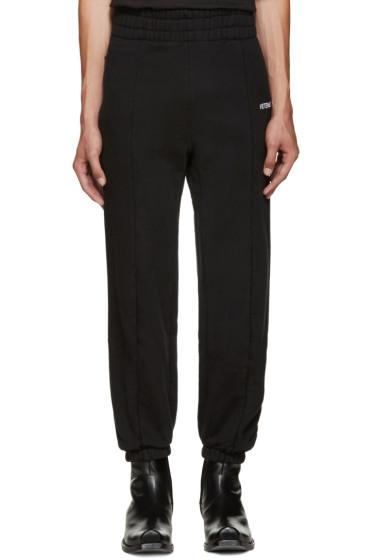 Vetements - Black Biker Lounge Pants