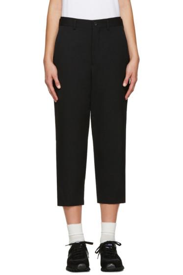Comme des Garçons Comme des Garçons - Black Wool Trousers