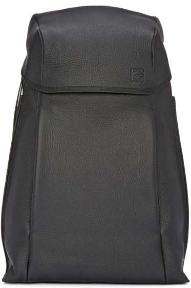 Loewe - Black Leather T Backpack
