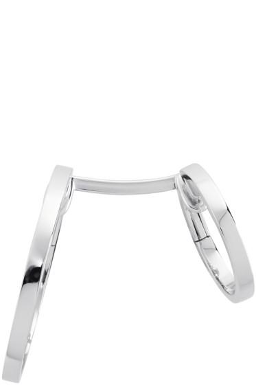 Repossi - White Gold Small Double Berbere Earring