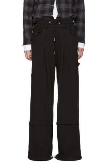 99% IS - Black Metal Super Wide-Leg Trousers