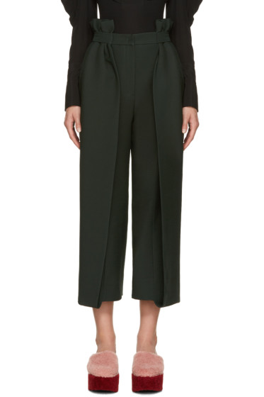 Fendi - Green Ruffled Trousers