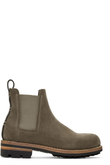 Feit - Green Suede Chelsea Boots