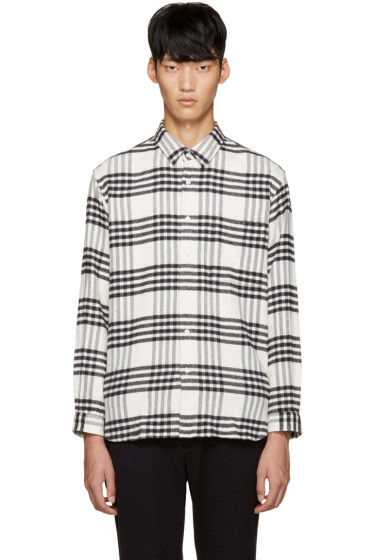 Tomorrowland - White Flannel Check Shirt