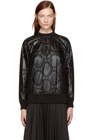Hyke - Black Quilted Nylon Pullover