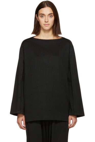 Nocturne #22 - Black Boatneck Sweater
