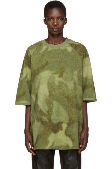YEEZY - Green Camo Raglan Knit T-Shirt
