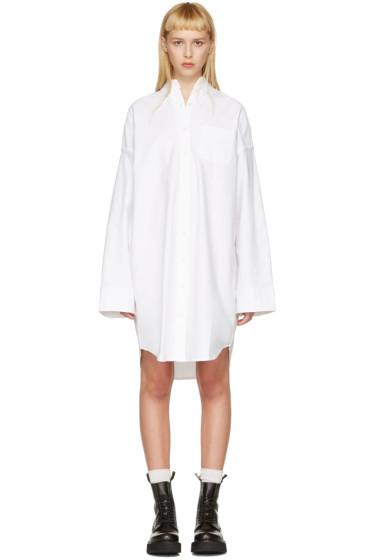 R13 - White Big Oxford Shirt