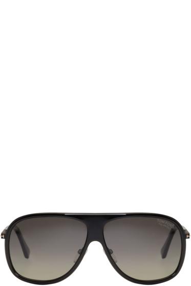 Tom Ford - Black Chris Aviator Sunglasses
