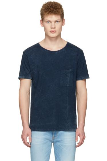 Nudie Jeans - Indigo Ove Marble T-Shirt